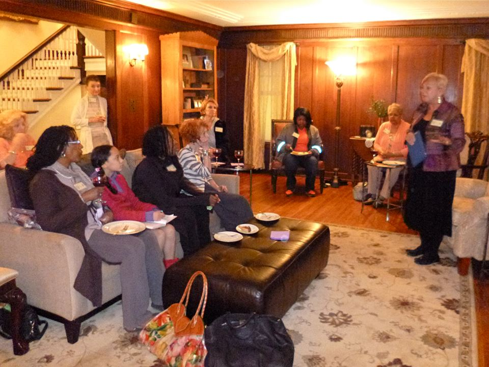 April 2014, meeting at Teresa's lovely home.