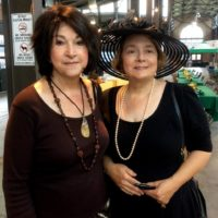 Kathleen Krasity, right, was the chair when we hosted the 2014 International Tea at Detroit's Eastern Market. She is shown with Dyann a guest and helper from the Indian Village Men's Garden Club, a co-ed group.