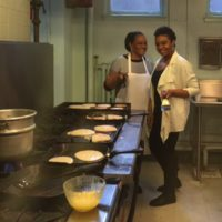 The club got cooking for the Pancake Breakfast this spring.1