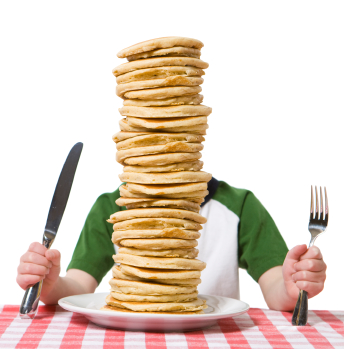 The Pancake Breakfast is ALL YOU CAN EAT!